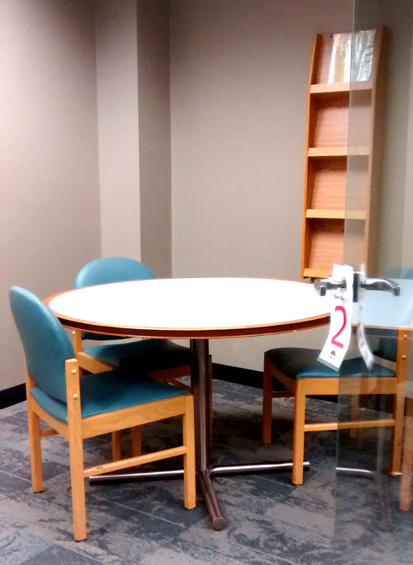 One of four identical study rooms at the Twinsburg Public Library.